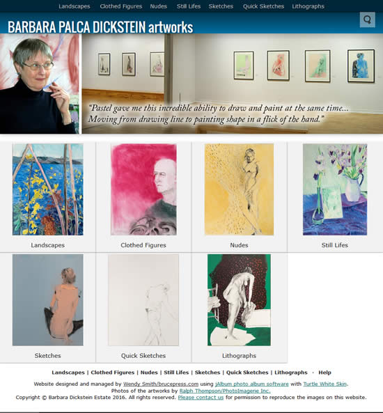 Barbara Dieckstein artworks website