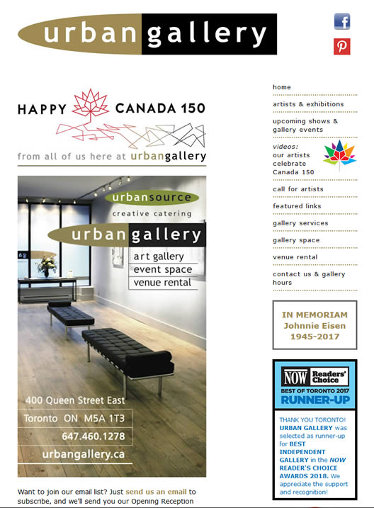 Urban Gallery website